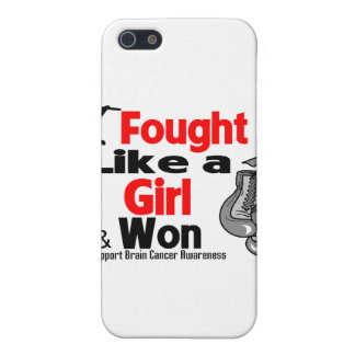 Brain Cancer I Fought Like a Girl and Won Cover For iPhone 5