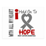 Brain Cancer I Hold On To Hope Postcards
