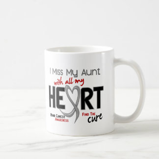 Brain Cancer I MISS MY AUNT WITH ALL MY HEART 2 Coffee Mugs