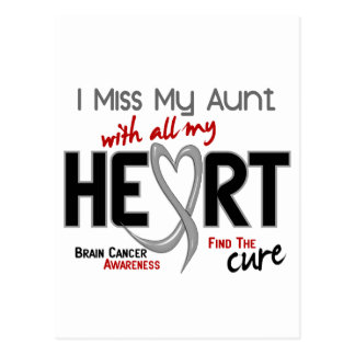 Brain Cancer I MISS MY AUNT WITH ALL MY HEART 2 Postcard