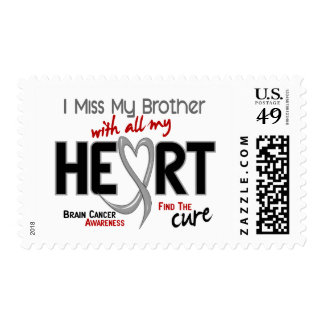 Brain Cancer I MISS MY BROTHER Postage Stamp