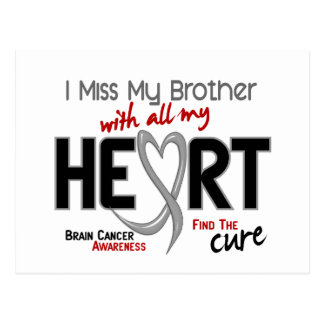 Brain Cancer I MISS MY BROTHER Post Cards