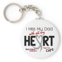 Brain Cancer I MISS MY DAD Keychain
