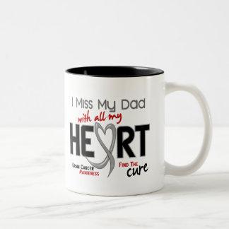 Brain Cancer I MISS MY DAD Two-Tone Coffee Mug