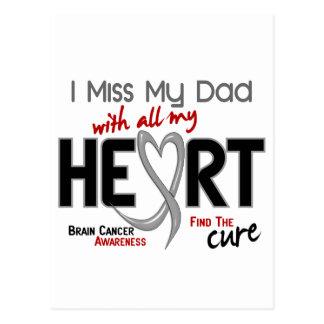 Brain Cancer I MISS MY DAD Postcard