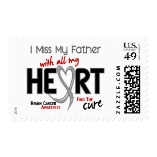 Brain Cancer I MISS MY FATHER Stamp