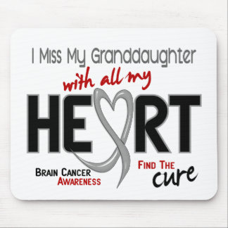 Brain Cancer I MISS MY GRANDDAUGHTER Mouse Pads