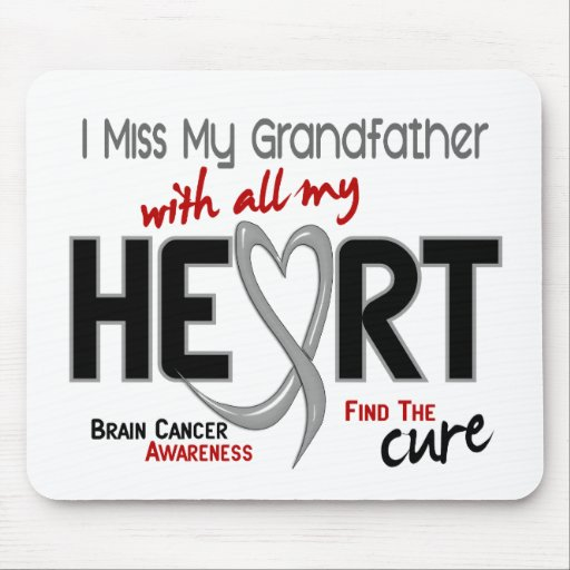 Brain Cancer I MISS MY GRANDFATHER Mouse Mats