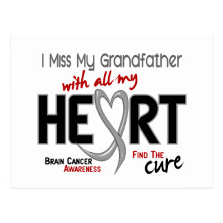Brain Cancer I MISS MY GRANDFATHER Post Cards