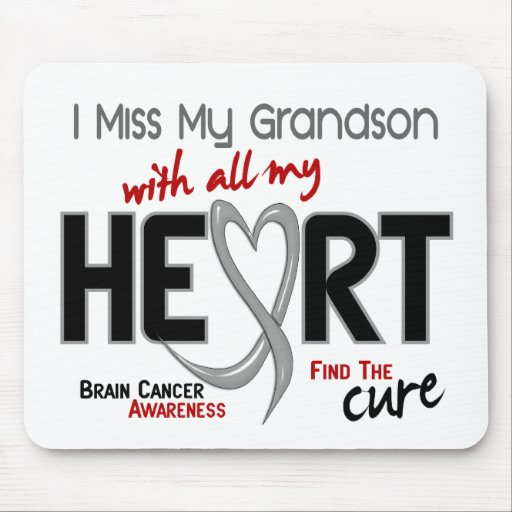 Brain Cancer I MISS MY GRANDSON Mouse Pads