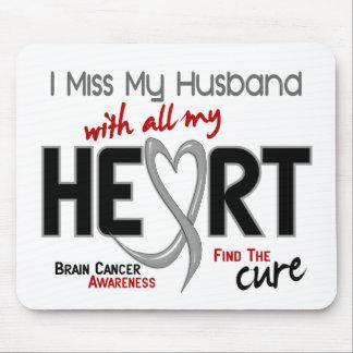 Brain Cancer I MISS MY HUSBAND Mouse Mats