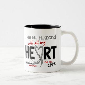 Brain Cancer I MISS MY HUSBAND Two-Tone Coffee Mug
