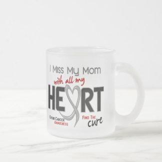 Brain Cancer I MISS MY MOM 10 Oz Frosted Glass Coffee Mug