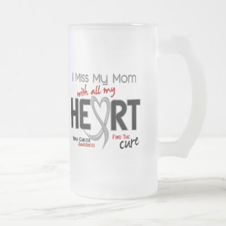 Brain Cancer I MISS MY MOM 16 Oz Frosted Glass Beer Mug