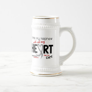 Brain Cancer I MISS MY NEPHEW WITH ALL MY HEART 2 Coffee Mugs