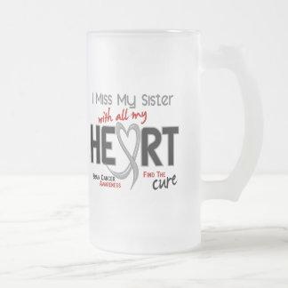 Brain Cancer I MISS MY SISTER Coffee Mugs