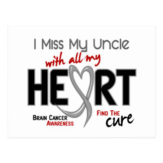 Brain Cancer I MISS MY UNCLE WITH ALL MY HEART 2 Postcard