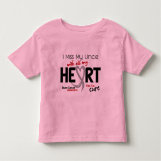 Brain Cancer I MISS MY UNCLE WITH ALL MY HEART 2 T Shirts