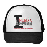 Brain Cancer I NEED A CURE 1 Mesh Hat