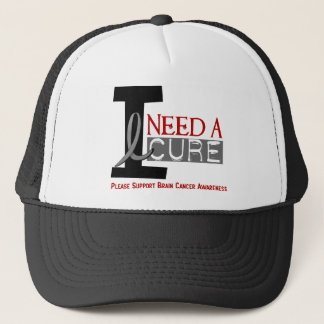 Brain Cancer I NEED A CURE 1 Trucker Hat