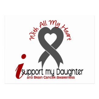 Brain Cancer I Support My Daughter Postcard
