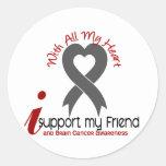 BRAIN CANCER I Support My Friend Stickers