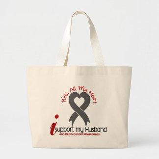 Brain Cancer I Support My Husband Jumbo Tote Bag