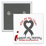 Brain Cancer I Support My Mommy Pin