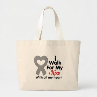 Brain Cancer I Walk For My Hero Bags