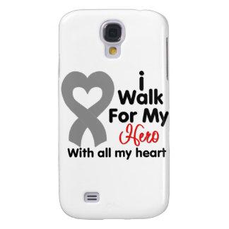 Brain Cancer I Walk For My Hero Galaxy S4 Cover