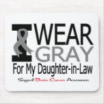 Brain Cancer I Wear Gray Ribbon Daughter-in-Law Mouse Pads