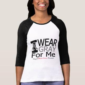 Brain Cancer I Wear Gray Ribbon For Me Tee Shirt