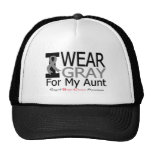 Brain Cancer I Wear Gray Ribbon For My Aunt Mesh Hat