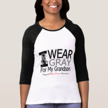 Brain Cancer I Wear Gray Ribbon For My Grandson T-Shirt