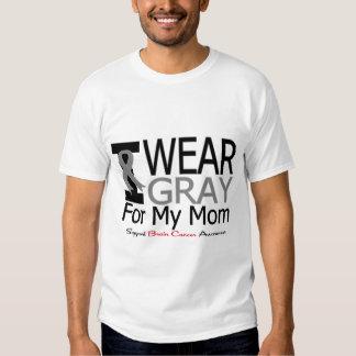 Brain Cancer I Wear Gray Ribbon For My Mom T-shirt