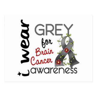 Brain Cancer I Wear Grey For Awareness 43 Postcard