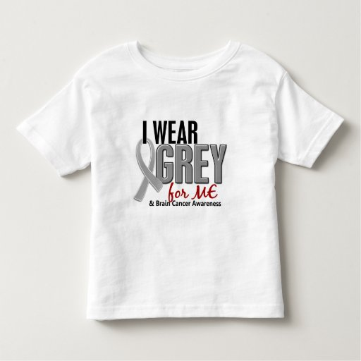 BRAIN CANCER I Wear Grey For ME 10 T Shirt