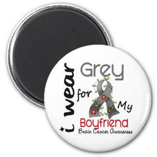 Brain Cancer I Wear Grey For My Boyfriend 43 Refrigerator Magnets
