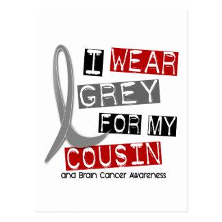 BRAIN CANCER I Wear Grey For My Cousin 37 Postcard