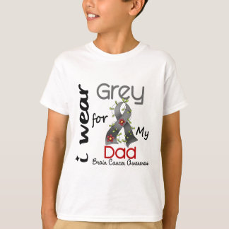 Brain Cancer I Wear Grey For My Dad 43 T-Shirt