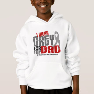 Brain Cancer I Wear Grey For My Dad 6.2 Hoodie