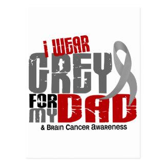 Brain Cancer I Wear Grey For My Dad 6.2 Postcard