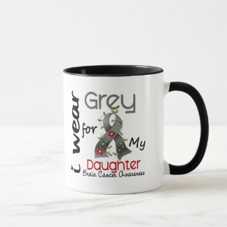 Brain Cancer I Wear Grey For My Daughter 43 Mug