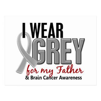 BRAIN CANCER I Wear Grey For My Father 10 Postcard