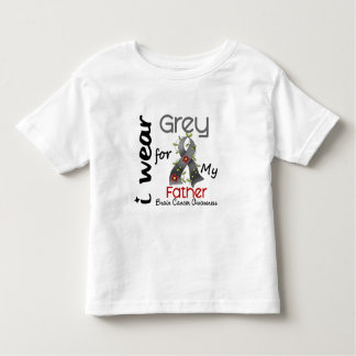 Brain Cancer I Wear Grey For My Father 43 Toddler T-shirt