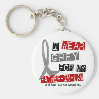 BRAIN CANCER I Wear Grey For My Father-In-Law 37 Key Chains