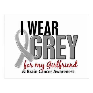BRAIN CANCER I Wear Grey For My Girlfriend 10 Postcard