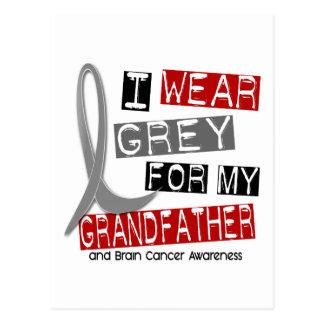 BRAIN CANCER I Wear Grey For My Grandfather 37 Postcard