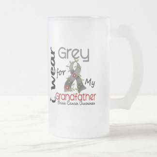 Brain Cancer I Wear Grey For My Grandfather 43 Mugs