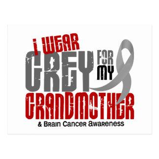 Brain Cancer I Wear Grey For My Grandmother 6.2 Postcard